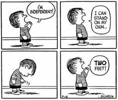 #thepeanutsgang #pnts #schulz #linus #independent #stand #twofeet