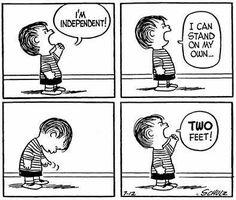 My declaration of adulthood. Linus Van Pelt, Lucy Van Pelt, Peanuts Cartoon, Peanuts Snoopy, Peanuts Comics, Snoopy Love, Snoopy And Woodstock, Snoopy Comics, Funny Comics