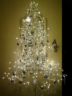 Crystal Silver Christmas Tree. Not my usual taste, but this would be very pretty as a second tree in a more decorative location.