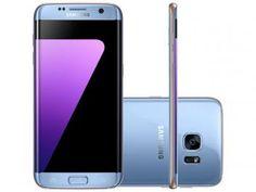 "Smartphone Samsung Galaxy S7 Edge 32GB Azul - 4G Câm. 12MP + Selfie 8MP Tela 5.5"" Quad HD"
