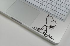 Snoopy  - Mac Decal Macbook Stickers Macbook Decals Apple Sticker for Macbook Pro / Macbook Air / iPad 2/ New iPad /iPad mini