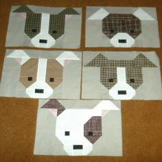 I'll be joining Judy and Beth today to finish playing with these. These are just stinkin' cute blocks from the pattern Dog Gone Cute...