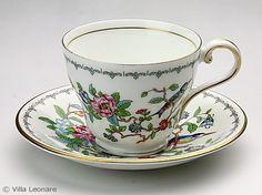 Pembroke cup and saucer: Villa Leonare