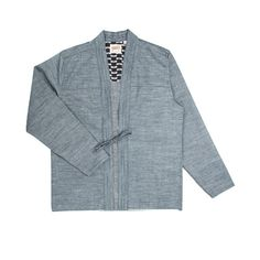 Kimono Shirt in Selvedge Chambray from Naked & Famous Denim. Japanese fabric. Made in Canada.