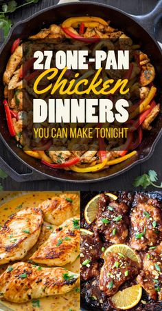 A Month's Worth of Easy Chicken Dinners! 27 Low-Stress Chicken Dinners You Can Make In One Pan Think Food, I Love Food, Good Food, Yummy Food, Tasty, Cooking Recipes, Healthy Recipes, Cooking Games, Top Recipes