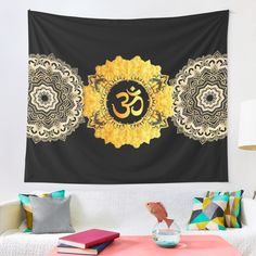 """Om Mandhala Namaste"" Tapestry by azimaplace 