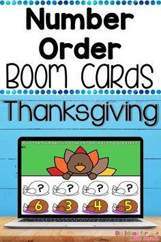 Are you teaching number order to preschoolers, kindergarteners, or even first graders remotely? If so this engaging Thanksgiving themed activity is perfect for you. It includes 30 different Boom Learning task cards where students will move digital pieces to put numbers in order from least to greatest. If you are teaching math in the classroom this activity also makes a great independent math center. Engage In Learning, Interactive Learning, Holiday Activities For Kids, Preschool Activities, Teaching Numbers, Teaching Math, Kindergarten Blogs, Thanksgiving Activities, Teacher Organization