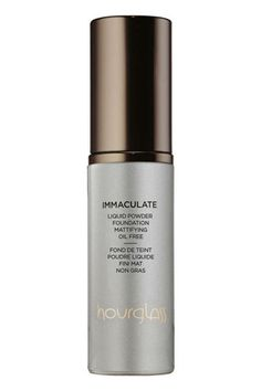 Hourglass Immaculate Liquid Powder Foundation. Perfection for combination/oily skin types. *Frequently used for red carpet events because it is durable, full coverage without being cakey and flawless. Feels like velvet on your skin.
