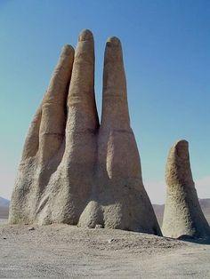 Hand of the Desert, Atacama, Chile.