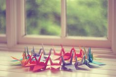 "paper cranes from ""The Sweetest Occasion"""