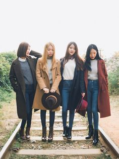 Korean Fashion Similar Look - Official Korean Fashion  trenches + jeans + boots +tees