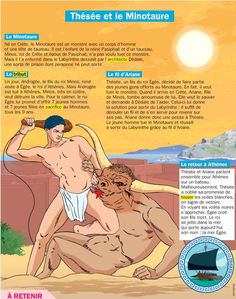Thésée, le Minotaure et le fil d'Ariane (Métamorphoses d'OVIDE  - livre 8)