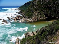 Blaauwkrantz at high tide - The Otter Trail, perhaps South Africa's most famous hiking trail - Ralph Pina Hiking Gear, Hiking Trails, Otters, Continents, Trip Planning, Places Ive Been, South Africa, High Tide, Adventure