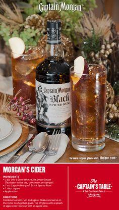 Morgan's Cider -- Owl's Brew Tea, Captain Morgan® Black Spiced Rum, and apple cider.