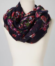 Love this Allover Floral Infinity Scarf by Capelli New York on #zulily! #zulilyfinds