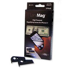 ThinkGeek :: LensMag Magnetic 10x & 15x Macro Lenses For iPhone 5
