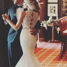 This sexy back is so on trend this season #sexy #bride #gown