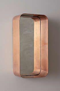 industrial mirror shelf.