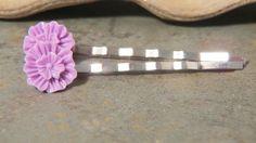Flower Bobby Pins - Purple Zinnia Bobby Pins - Set of Two - Purple Flower Bobby Pins - Purple Flower Hair Pins - Purple Bobby Pins - pinned by pin4etsy.com