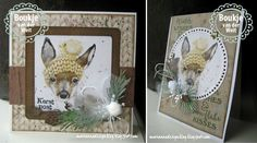 Marianne Design Cards, 3d Cards, 3 D, Christmas Cards, Projects To Try, Card Making, Paper Crafts, Wool, Winter