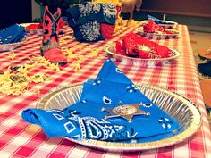 Cowboy Party~very cute idea! eating out of pie plates!!