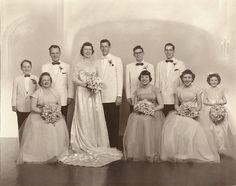 Wedding of Dolores Chocola & Leonard Pechanic Vintage Wedding Photography, Vintage Wedding Photos, Vintage Bridal, Vintage Weddings, Wedding Pictures, Wedding Attire, Wedding Bridesmaids, Wedding Day, Wedding Parties