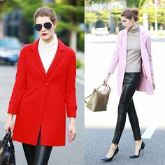 Autumn Winter Womens Jackets and Coat Single Button Medium Long Thicken Female Elegant Warm Wool windbreak Coat 16808