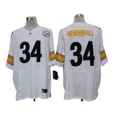 Nike Rashard Mendenhall Jersey Elite Team Color White Pittsburgh Steelers #34