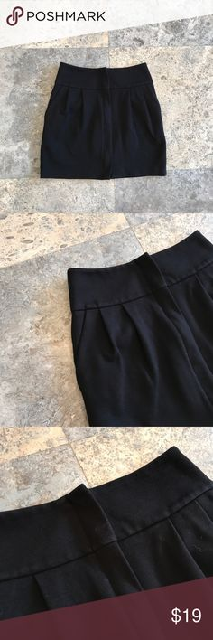 """Club Monaco mini skirt Club Monaco black mini skirt. Size 00. Does have some fading, but overall good condition. Thick material. Front zip. Waist 13.5"""", length 15"""". ❌PRICE IS FIRM, ANY OFFERS MADE WILL BE DECLINED❌🚫NO TRADES🚫 Club Monaco Skirts Mini"""