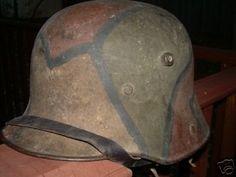 WW1 WWI German Camo Stahlhelm Helmet M16 Named (07/24/2007)