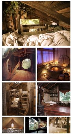 i'd love to live in this wooden cabin it looks so amazing and relaxed, the colours would make it such a calm place to live or visit
