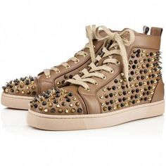 2a085ed2bae4 Christian Louboutin Louis Spikes Mens Flat (£920) ❤ liked on Polyvore  featuring mens
