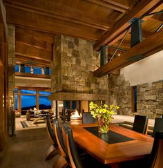 mountain dining room