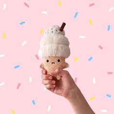 Kawaii Bedroom, Ice Cream Van, Kawaii Plush, Kawaii Anime, Super Cute, Snoopy, Toys, Crochet, Mini