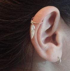Helix Earring - Helix Ring - Feather Helix Ring - Helix Hoop - Helix earring - Helix Piercing - Cartilage Hoop,helix jewelry,Christmas sale by on Etsy Helix Earrings Hoop, Helix Jewelry, Helix Hoop, Ear Jewelry, Feather Earrings, Feather Jewelry, Silver Earrings, Diamond Earrings, Conch Earring