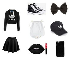 """""""Jaliyah cole style"""" by animelover03 on Polyvore featuring LE3NO, Topshop, Converse, Lime Crime, adidas and Maison Margiela"""