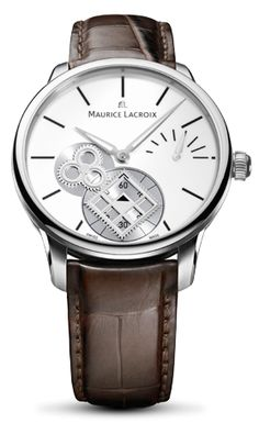 """A watch without a dial? The Masterpiece Square Wheel does not follow convention. It dispenses with a normal dial, instead revealing the move- ment bridge, effectively the chassis of the movement within.  The stainless steel case, measuring 43mm in diameter, provides the opti- mum size for the depiction of time, ensuring ease of readability.  The """"Classic"""" features a black canvas on which to express time. Dia- mond-polished and faceted, luminescent Hours and Minute hands stylishly convey the…"""