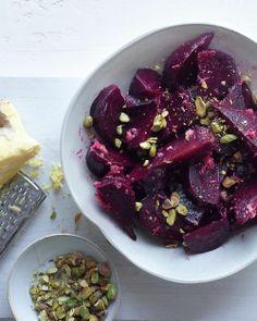 beet salad + ginger dressing