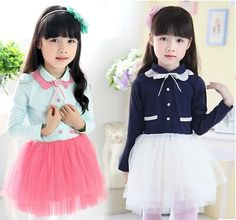 Find More Dresses Information about Free Shipping Girls Autumn Ruffles Collar Dresses Kids Mesh Long Sleeve Dress,High Quality dress feminine,China dress keychain Suppliers, Cheap dress teenager from Kids Fashion Clothing - Worldwide Wholesale  on Aliexpress.com