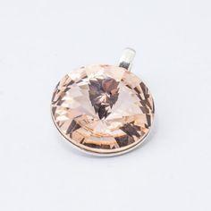 Silver plated Swarovski Rivoli Pendant Silk Dimensions: length: stone size: Weight ~ ( 1 piece ) Metal : silver plated brass Stones: Swarovski Elements 1122 Colour: Silk 1 package = 1 piece Price PLN(about EUR) Swarovski Pendant, 1 Piece, Silver Plate, Silver Jewelry, Stones, Pendants, Brass, Colour, Silk