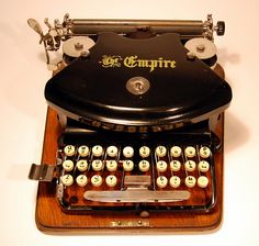 Empire 1 typewriter - 1892, www.antiquetypewriters.com | Flickr - Photo Sharing!