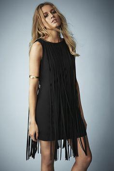 Long Fringed Tassel Dress (Juniors) by TOPSHOP on @nordstrom_rack