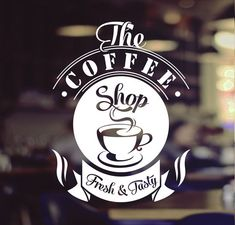 Coffee Shop Signage, Coffee Shop Branding, Coffee Shop Logo, Coffee Shop Design, Logo Branding, Design Food, Cafe Design, Coffee Fonts, Coffee Chalkboard