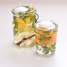 Decor: Pretty DIY Citronella Candles: Keep Bugs Away With Scented Floating Candle Jars Mason Jars, Glass Jars, Candle Jars, Candle Holders, Glass Bowls, Do It Yourself Garten, Do It Yourself Wedding, Floating Candles, Diy Candles