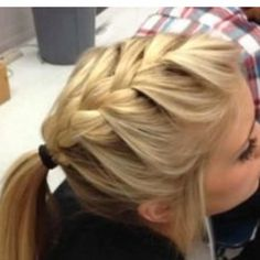 My friend Quinnton does my hair kind of like this in school accept he puts the access hair into a bun. Looks super cute!