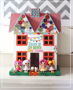 Lalaloopsy Party: if all the girls have the tiny dolls, they can decorate little playhouses for them!