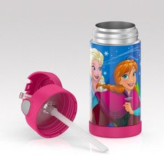 Thermos Frozen 12oz Funtainer Water Bottle - Pink, Black Diy Case, Disney Frozen 2, Little Princess, Unique Gifts, Water Bottle, Pink Black, Board, Room, Products