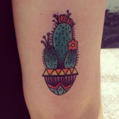 Best freind cacti, by Nikki Jo at Gully Cat Tattoo in Austin TX