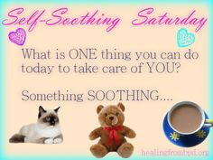 What is ONE thing you can do today to take care of YOU?