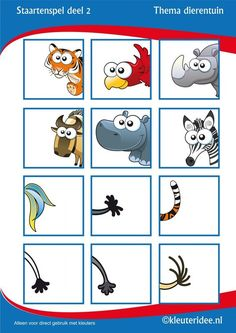 tail game for preschool, free printable. Infant Activities, Book Activities, Halloween Makeup Kits, Animal Tails, Le Zoo, Jungle Theme, Animal Crafts, Zoo Animals, Pre School